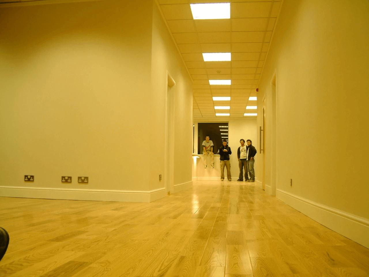 Corridor with People | Silverfox Design & Build